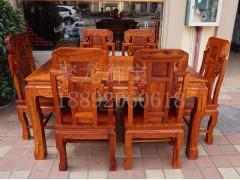 西安仿古餐桌   红木餐桌   榆木