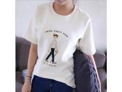 纯棉卡通圆领T恤试用