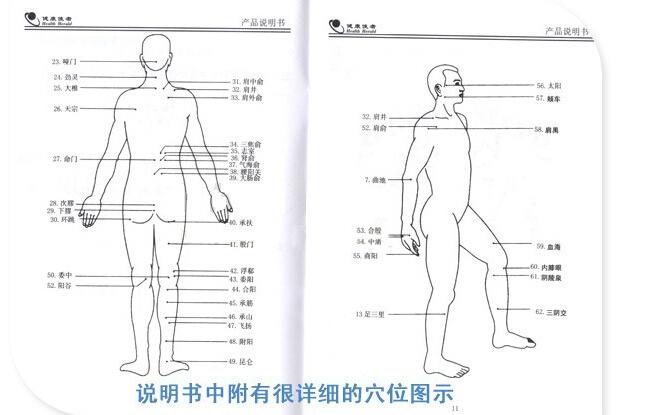 xtk-080-d数码经络脉冲仪【带电源】 数码理疗仪 按摩