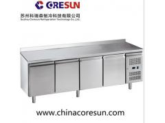 分体式不锈钢风冷四门冷藏冷冻商用厨房平台柜工作台|GN4200TN