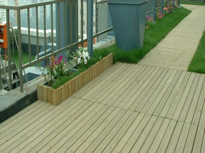 佛山厂家设计安装楼顶天台花园户外地板