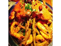 汉中学正宗鸡翅煲教肉蟹煲鲜虾煲