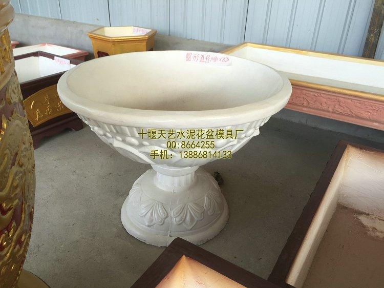 水泥花盆模具,水泥花盆制作方法与制作过程,花盆一次成型