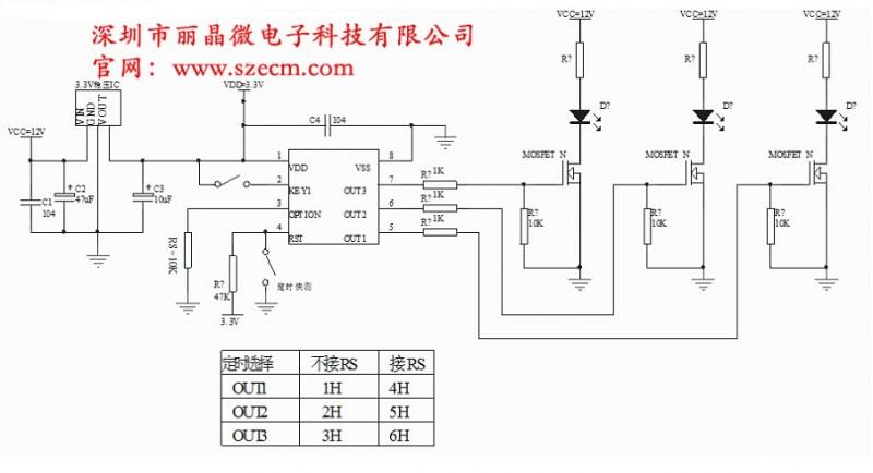 商易网 产品 电子元器件 集成电路(ic) 单片机 供应1-6小时定时开关ic