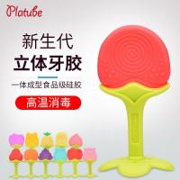 厂家批发 婴儿牙胶宝宝磨牙棒水果硅胶咬咬乐儿童玩具 母婴用品