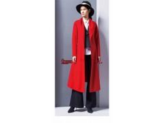供应女装尾货品牌格律诗双面呢大衣批发一手货源走份