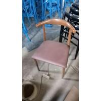 仿实木铁艺牛角椅子咖啡厅西餐厅桌椅简约餐椅奶茶甜品店椅组合