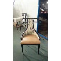 现代中式餐椅家用餐厅椅创意时尚轻奢金属靠背椅