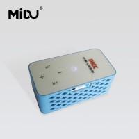 无线蓝牙音箱 双叭收音低音炮长方形可定制图案logo