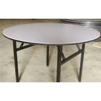 酒店餐桌椅宴会折叠桌饭店实木多层板pvc圆桌