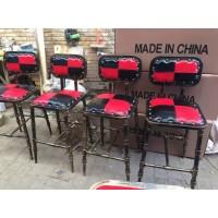 欧式铁艺酒吧椅吧凳现代简约椅子 高脚凳 吧台椅