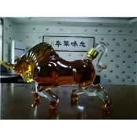 厂家供应玻璃酒瓶手工艺动物造型牛型酒瓶