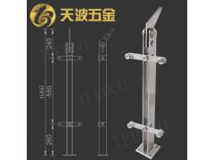 不锈钢立柱玻璃楼梯扶手护栏 栏杆