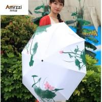 amrzzi阿玛姿遇水变色伞 全自动遮阳伞 遇水开花变色伞