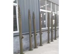 三角升降支架防雷避雷针YB升降避雷针安装图河南手动升降杆定制