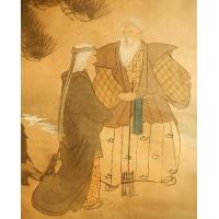 一幅絹本綾裱人物畫
