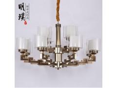 铁艺新中式吊灯餐厅新中式吊灯新中式灯具厂家