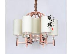 新中式吊灯 全铜新中式吊灯 卧室全铜新中式吊灯