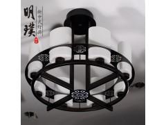 新中式吸顶灯 云石新中式吸顶灯 大厅新中式吸顶灯