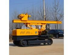 加护筒防塌方型履带打桩机 流沙层专用履带式长螺旋打桩机