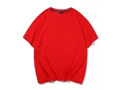 T恤polo衫定制潮牌寬松落肩小螺紋領短T恤YC 1105