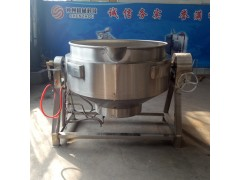 厂家批发夹层锅  燃气式不锈钢夹层锅  芝麻炒锅