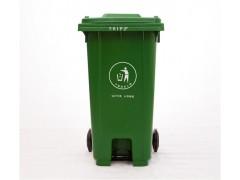 重慶240升環衛塑料腳踩垃圾桶 帶輪掛車物業垃圾桶廠家直銷