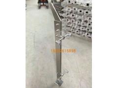 不锈钢菱形穿拉丝立柱 工程扶手 菱形挂玻璃立柱