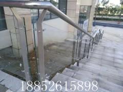 304玻璃楼梯扶手栏杆 不锈钢阳台立柱 护栏刮玻璃立柱