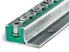 高分子鏈條導軌T型雙排08A 自潤滑鏈條導槽來圖定制