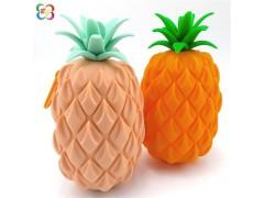 个性化硅胶礼品定制 硅胶菠萝零钱包厂家直销