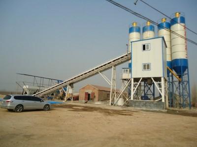 供应绿色环保型HZS90混凝土搅拌站