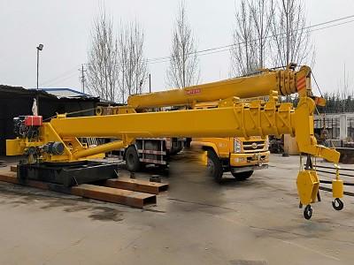 南通船吊厂家供应360度旋转客令吊 2至16吨直臂式浮船吊