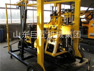 方便拖运的岩芯钻机XYX-130巨匠轮式岩芯钻机拖挂式钻机