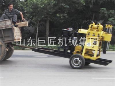可以拖着走的百米钻机XYX-200轮式岩芯钻机拖挂岩芯钻机