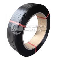 广东清远黑色1608pet手工塑钢打包带环保水泥砖打包带直销