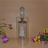 定制手工艺玻璃白酒瓶直管帆船玻璃酒瓶厂家