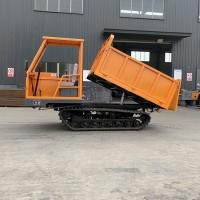 双缸小型橡胶履带运输车生产厂家 全地形运输砂石履带翻斗车价格