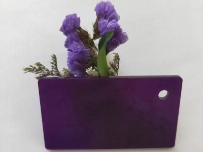 彩色亚克力板深紫色半透明有机玻璃大板定制塑料板材加工