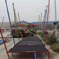 儿童蹦极四人蹦极户外广场儿童游乐设备钢架蹦极床厂家直销