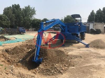自卸式随车挖掘机  随车挖大臂可加长