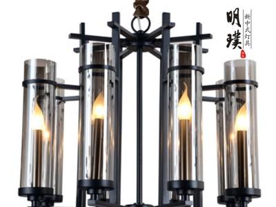 中灯具 客厅简 中式吊灯 新中式吊灯 杭州新中式吊灯订制