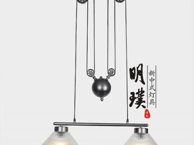 新中式吊灯 客厅禅意复古灯具 贵阳新中式吊灯订制