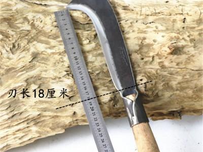 手工锻打砍柴刀农用带勾镰刀户外柴刀弯勾刀弹簧钢砍竹刀破树枝