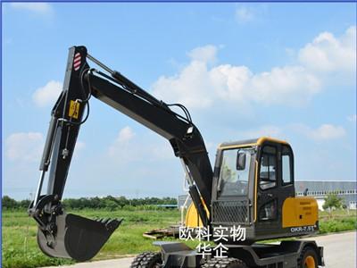 供应多功能建筑工程钩机 双杠柴油农用挖掘机