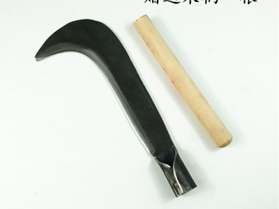 锻打镰刀竹蔑修枝勾刀户外割草刀开路农用工具弹簧钢劈柴刀