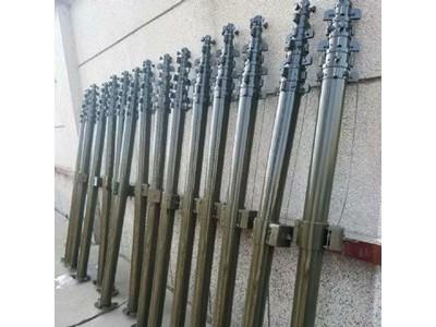 110KV移动变电站升降避雷针安装 野狼社区必出精品定制碳纤维移动升降杆