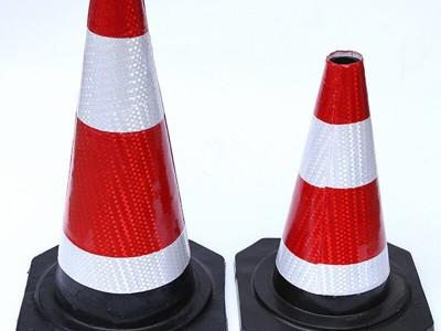 橡胶圆锥厂家 优质反光防撞雪糕筒 施工道路警示护栏带
