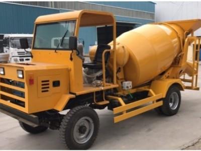 专业定制混凝土搅拌罐车自动上料农用灌机 轮式四驱搅拌罐运输车