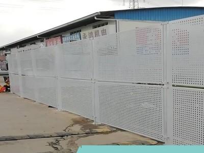 组装式网片护栏 沿海工地透风冲孔板围挡 美观新式抗风坚固